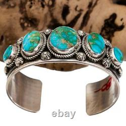 ALBERT JAKE Turquoise Bracelet SONORAN GOLD Sterling Silver Native American ROW