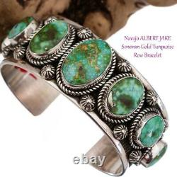 ALBERT JAKE Turquoise Bracelet SONORAN GOLD Sterling Silver Navajo Spiderweb
