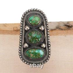 A+ CALVIN MARTINEZ Turquoise Ring SONORAN GOLD Totem 8 Sterling Silver INGOT