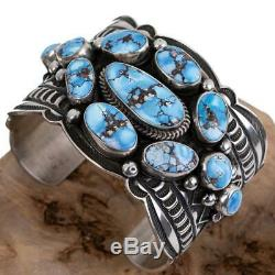 A+ GOLDEN HILL Turquoise Bracelet Sterling Silver ANDY CADMAN Native American
