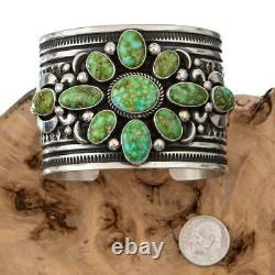 A+ Native American Turquoise Bracelet SONORAN GOLD Sterling Silver ALBERT JAKE