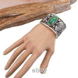 A+ Turquoise Bracelet SONORAN GOLD Sterling Silver ALBERT JAKE Ultra HEAVY