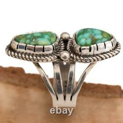 A+ Turquoise Ring Sterling Silver SONORAN GOLD 8 Native American ALBERT JAKE
