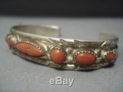 Amazing Vintage Navajo Turquoise Sterling Silver Bracelet Old