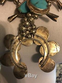 Authentic Vintage squash Blossom Necklace