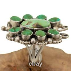 BIG Turquoise Ring OLD BUTTERFLY Carico Lake Sterling Silver 8 3/4 Navajo Huge