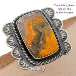 BUMBLE BEE JASPER Ring 6 Divine Sunrise Native American Student Kirk Smith