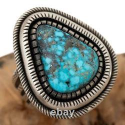 CALVIN MARTINEZ Navajo Turquoise Ring Sterling Silver Ithaca Peak 9.75- 10 MENS