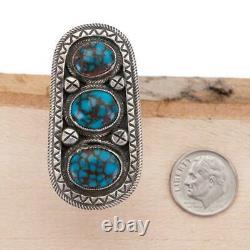 CALVIN MARTINEZ Turquoise Ring EGYPTIAN PRINCE Totem 8 Sterling Silver INGOT