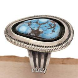 CALVIN MARTINEZ Turquoise Ring GOLDEN HILL Sterling Silver INGOT Navajo Handmade