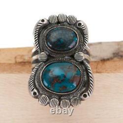 CALVIN MARTINEZ Turquoise Ring Natural EGYPTIAN PRINCE Sterling Silver INGOT 7