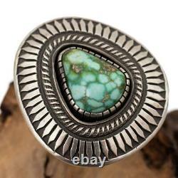 CALVIN MARTINEZ Turquoise Ring SONORAN GOLD Sterling Silver sz 9 GEM GRADE INGOT