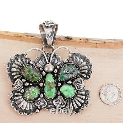 CARICO LAKE Necklace Pendant BUTTERFLY Turquoise PAUL LIVINGSTON Squash Blossom