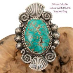 CARICO LAKE Turquoise RING Sterling Silver Michael Calladitto 6 Native American