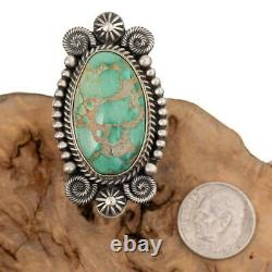 CARICO LAKE Turquoise RING Sterling Silver Natural Michael Calladitto 8 3/4