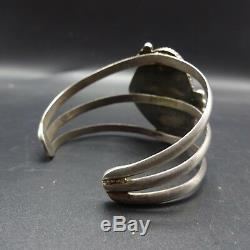 CLASSIC 1960s Vintage NAVAJO Sterling Silver ROYSTON TURQUOISE Cuff BRACELET 43g
