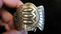 Carson B. Running Horse Vintage Navajo Sterling Silver Bracelet- Running Bear