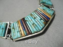 Charles Loloma Student Vintage Navajo Turquoise Sterling Silver Necklace