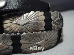 Concho Belt For Jeans! Vintage Navajo Sterling Silver Concho Belt