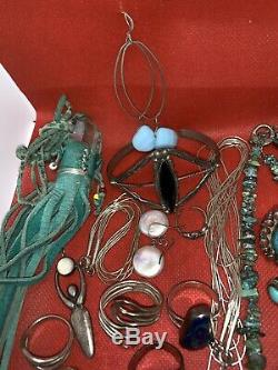 Dead Pawn Native American Taxco Vintage Sterling Silver 925 Turquoise Lot 200+g