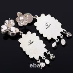 FEDERICO JIMENEZ Earrings Fresh Water PEARL WEDDING Sterling Silver Chandelier