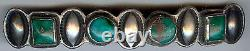 Gorgeous Vintage Navajo Indian Silver & Turquoise Hair Clip Barrette