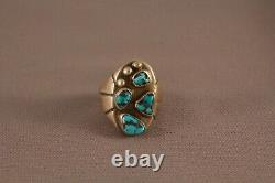 Great Old Pawn Navajo Turquoise Ring Size 9 1/2