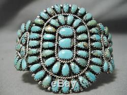 Important Vintage Navajo Larry Moses Begay Turquoise Sterling Silver Bracelet