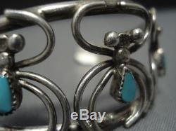 Impressive Vintage Navajo Sterling Silver Spiders Bracelet