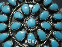 Incredible Vintage Navajo Turquoise Sterling Silver Bracelet