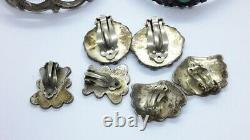 LOT Vintage Mixed NAVAJO ZUNI NATIVE AMERICAN Sterling Jewelry Lot Cuffs Earring