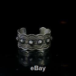 Large Cuff bracelet Mens Native American Indian Jewelry Hopi Vintage Style