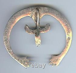 Large Vintage Navajo Indian Silver Arms & Hands Naja Pendant