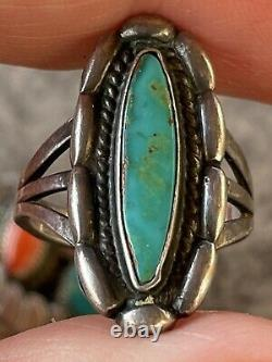 Lot Of 3 Native American Vintage Sterling Silver Jewelry Set