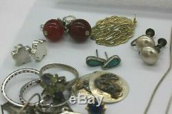 Lot Of Sterling Silver Jewelry 244 Grams Native American, Modern, Vintage