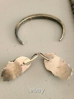 Lot Of Vintage Sterling Silver Native American Jewelry With Stones
