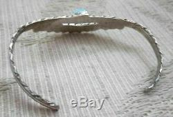 Lovely Vintage Zuni Turquoise Needlepoint Sterling Silver Bracelet M. Eustace