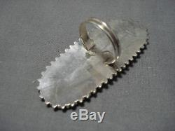 Magnificent Vintage Zuni Coral Sterling Silver Native American Ring Old