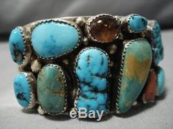 Museum Quality Vintage Navajo Royston Turquoise Sterling Silver Bracelet Old