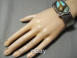 Museum Vintage Navajo #8 Turquoise Sterling Silver Bracelet Old