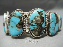 Museum Vintage Navajo Bisbee Turquoise Sterling Silver Bracelet Old