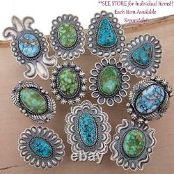 NATIVE AMERICAN JEWELRY LOT Sterling Silver Vintage Old Pawn Antique Turquoise