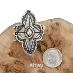 NAVAJO RING Sterling Silver PUEBLO CROSS sz 6 BIKER Ketoh Old Pawn Style