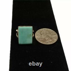 Native American Ring EDE Sterling Silver Turquoise Vintage Jewelry Size 5