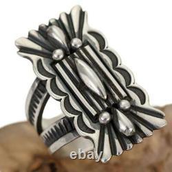 Native American Ring Sterling Silver OLD KETOH ALBERT JAKE Vintage MENS 11