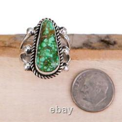 Native American TURQUOISE RING Sonoran Gold Sterling Silver ALBERT JAKE 7.5