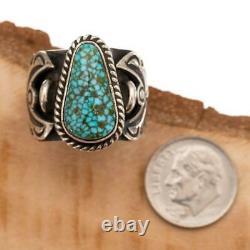 Native American TURQUOISE RING Sterling Silver ANGEL WINGS ALBERT JAKE 7
