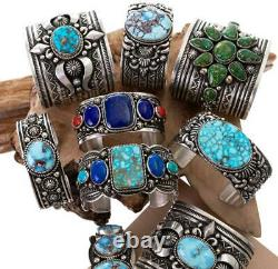 Native American Turquoise Bracelet ANCIENT KETOH Sterling Silver ALBERT JAKE