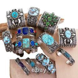 Native American Turquoise Bracelet KETOH WARRIOR Sterling Silver ALBERT JAKE