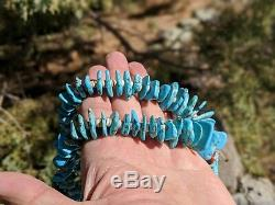 Native American Turquoise Jacla Necklace Earrings Heishi Vintage Navajo Jewelry